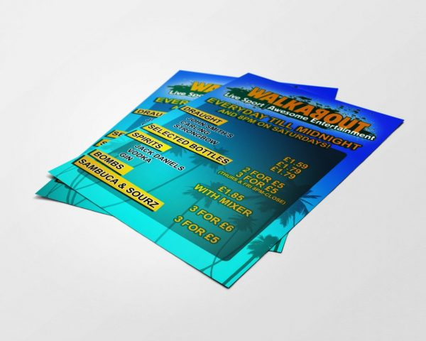 Walkabout Flyer - Designed by Perfecto Print UK
