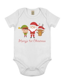 Personalised First Christmas Baby Grow - Perfecto Print UK