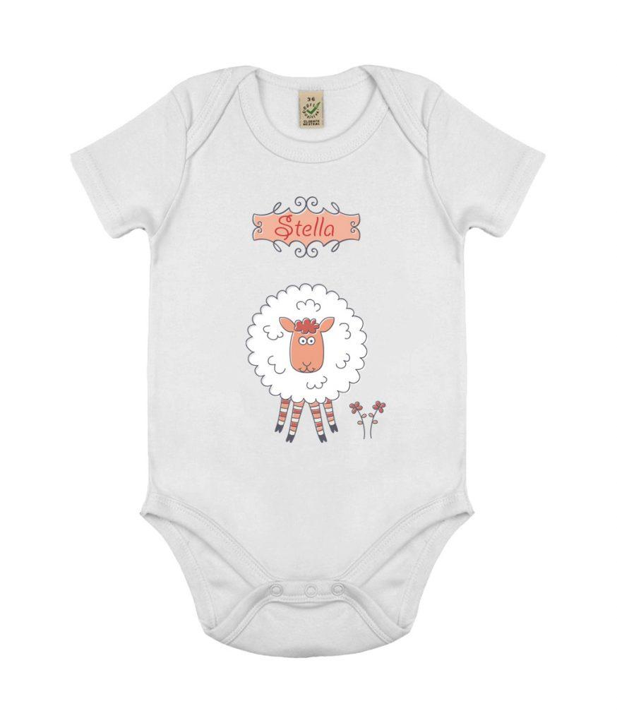 d1af2c0fe Personalised Name Sheep Baby Grow Onesie - PerfectoPrint UK